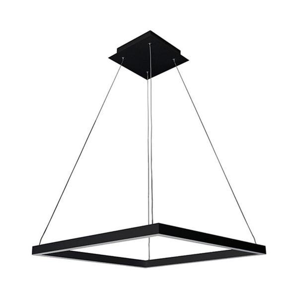 Vonn Lighting Atria LED Square Pendant Light - 20-in - Silver