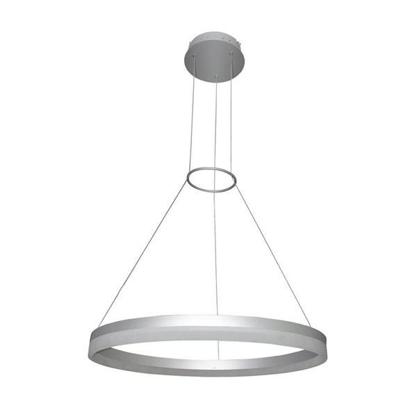 Vonn Lighting Tania Pendant Light - Satin Nickel Modern - Round - 24 in.