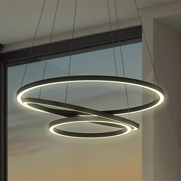 Vonn Lighting Tania Trio Integrated LED Chandelier - 32-in - Black