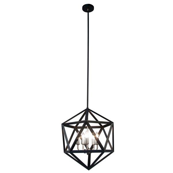 Dainolite Archello Chandelier - 5-Light - 20-in x 18-in - Matte Black