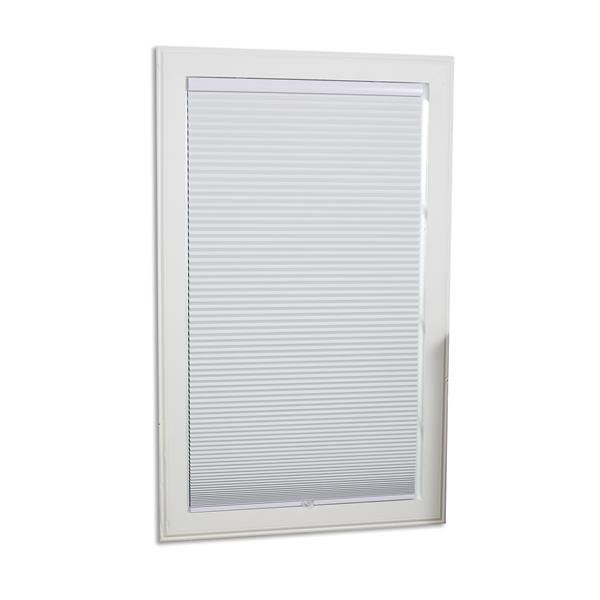 """allen + roth Blackout Cellular Shade - 25"""" x 64"""" - Polyester - White"""