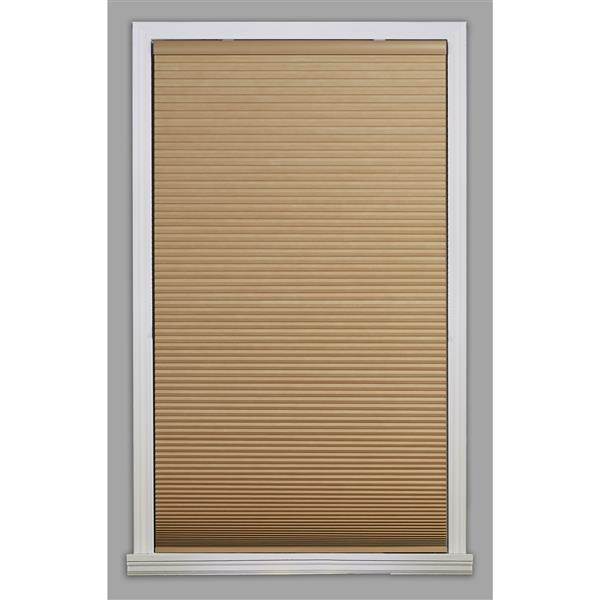 "allen + roth Blackout Cellular Shade- 58.5"" x 48""- Polyester- Khaki/White"