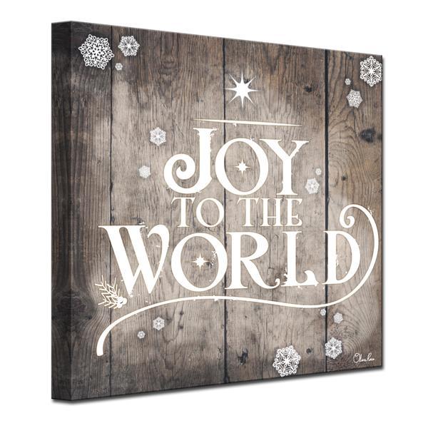 Ready2HangArt Christmas Joy to World Canvas Wall Art - 30-in - Brown