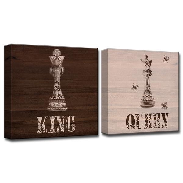 Ready2HangArt King & Queen Canvas Wall Décor - 40-in - Brown - 2 Pcs