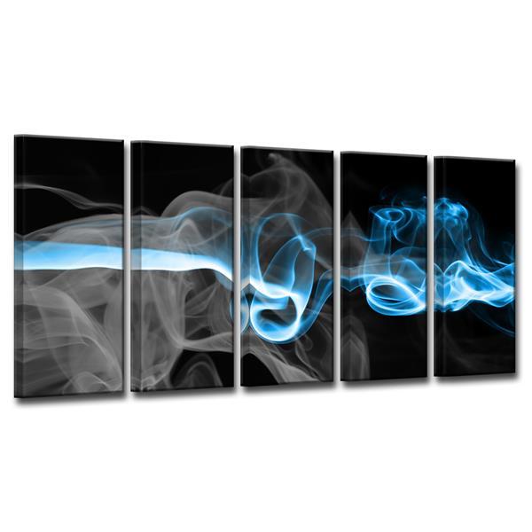 Ready2HangArt Glitzy Mist Canvas Wall Décor - 60-in - Blue - 5 Pcs