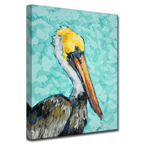 Ready2HangArt Pelican Canvas Wall Décor - 30-in - Blue