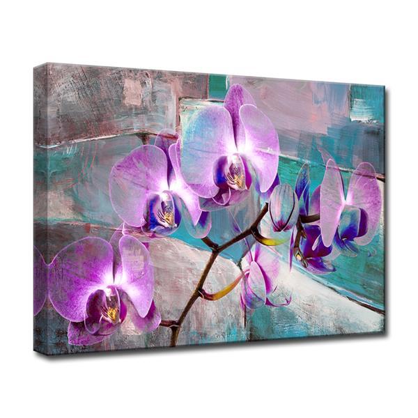 Ready2HangArt Painted Petals XIX Canvas Wall Décor - 40-in - Purple