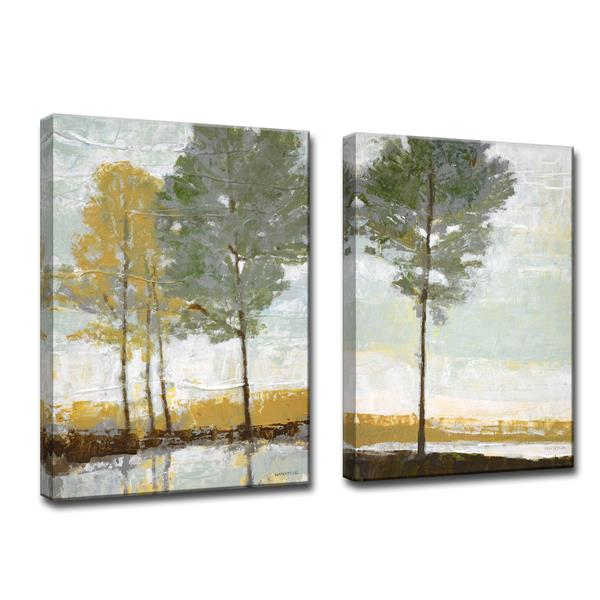 Ready2HangArt Lakeside View Wall Décor Set - 40-in - Gray - 2 Pcs