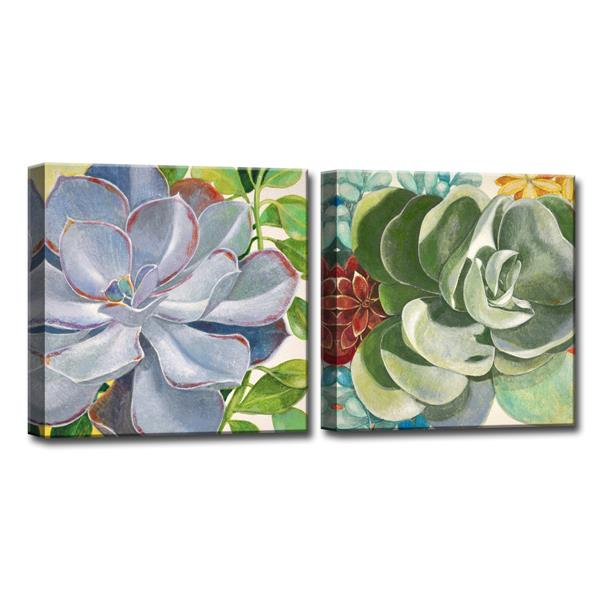 Ready2HangArt Brilliant Succulents Wall Art Set - 60-in - 2 Pcs