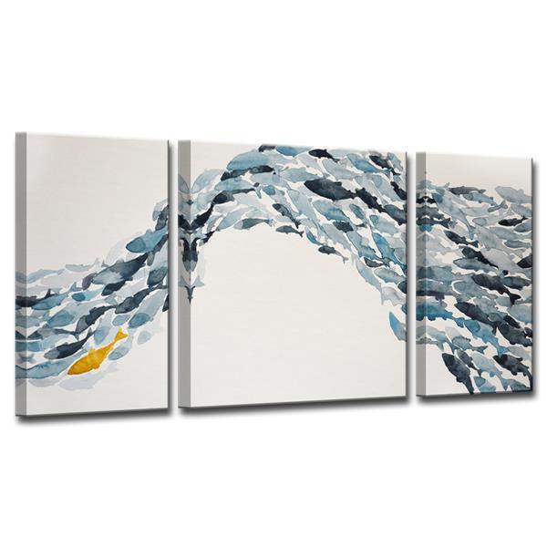 Ready2HangArt Goldfish Canvas Wall Décor Set - 60-in - Blue - 3 Pcs