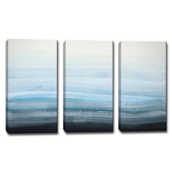 Ready2HangArt Coastal Mist Canvas Wall Décor Set - 60-in - Blue - 3 Pcs