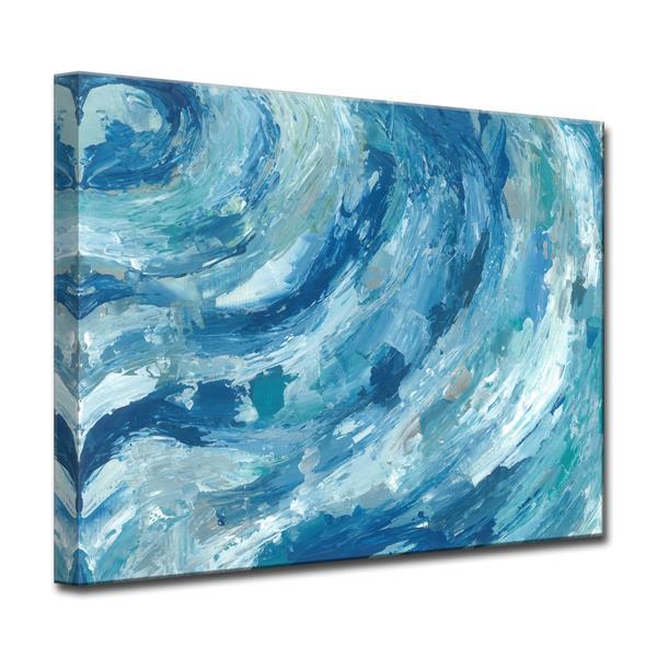 Ready2HangArt Evening Ocean Swells Canvas Wall Décor - 40-in - Blue