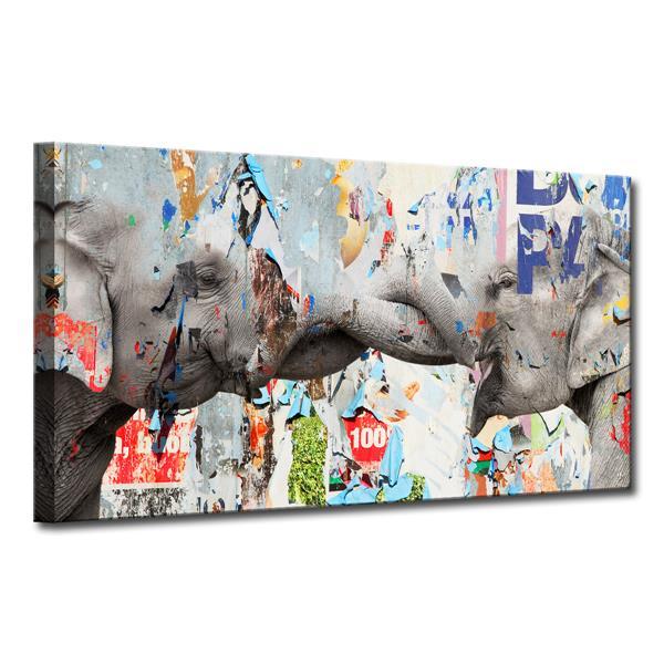 Ready2HangArt Elephant Canvas Wall Décor - 40-in x 20-in