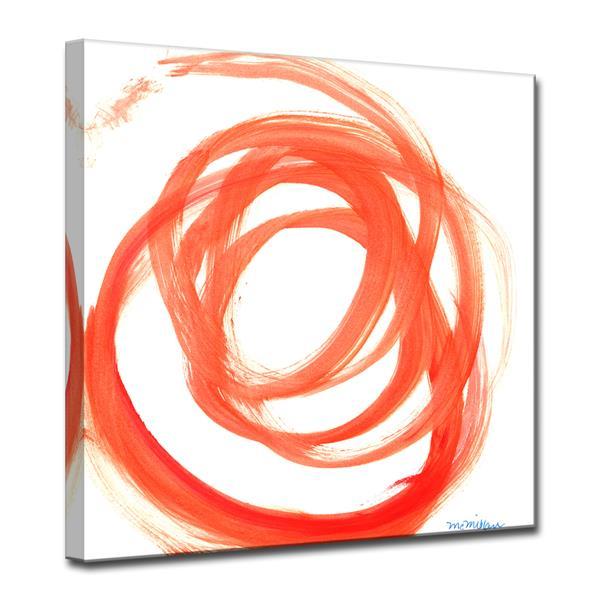 Ready2HangArt Orange Swirl Canvas Wall Décor - 30-in - Orange