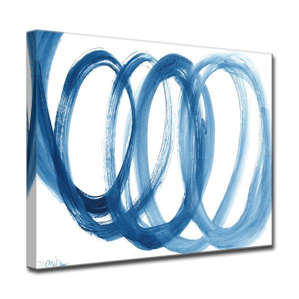 Ready2HangArt Loopy Blue Canvas Wall Décor - 40-in - Blue
