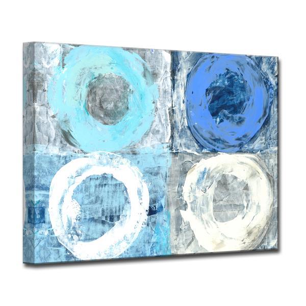 Ready2HangArt Circular Squares Canvas Wall Décor - 40-in - Blue