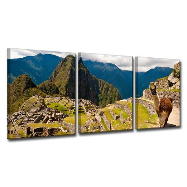 Ready2HangArt Machu Picchu Canvas Wall Décor Set - 48-in - 3 Pcs