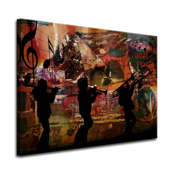 Ready2HangArt Jazz Trio Canvas Wall Décor - 40-in x 30-in