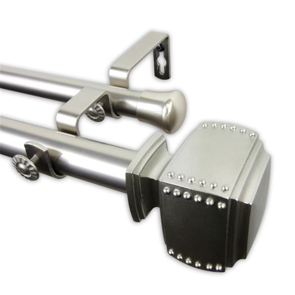 Rod Desyne Bennett Double Curtain Rod - 120-in to 170-in - Nickel