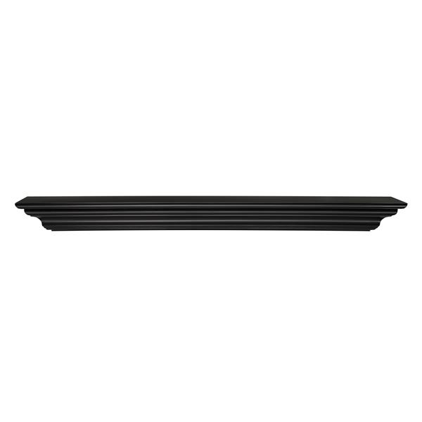 Pearl Mantels Crestwood Mantel Shelf - 72-in - MDF - Black