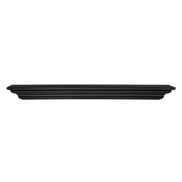Pearl Mantels Crestwood Mantel Shelf - 60-in - MDF - Black