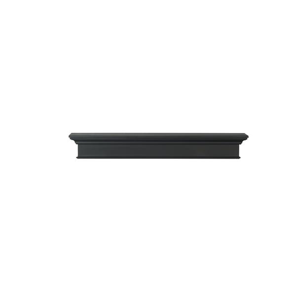 Pearl Mantels Henry Mantel Shelf - 48-in - MDF - Black