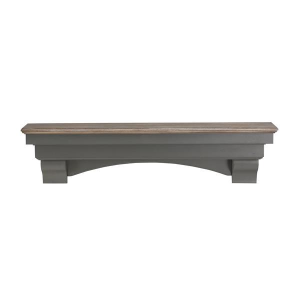 Pearl Mantels Hadley Mantel Shelf - 60-in - Wood - Gray