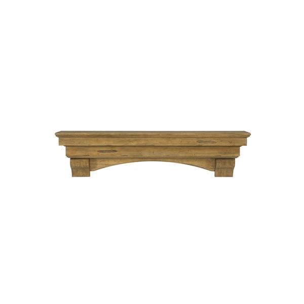 Pearl Mantels Celeste Mantel Shelf - 60-in - Wood - Brown