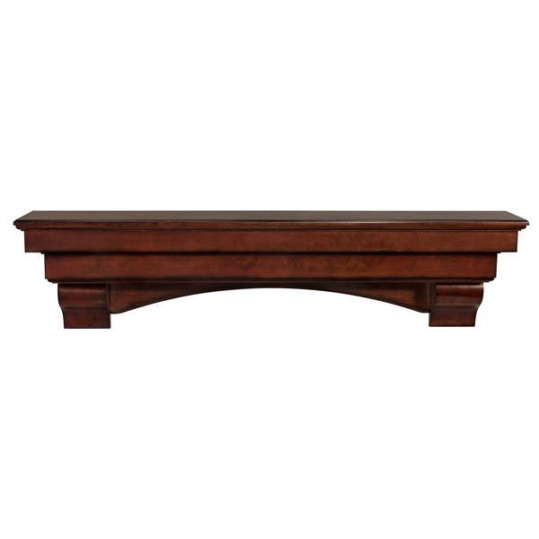 Pearl Mantels Auburn Mantel Shelf - 60-in - Wood - Brown
