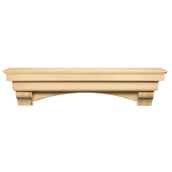Pearl Mantels Auburn Mantel Shelf - 48-in - Wood - Natural