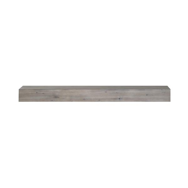 Pearl Mantels Acacia Mantel Shelf - 48-in - Wood - Gray