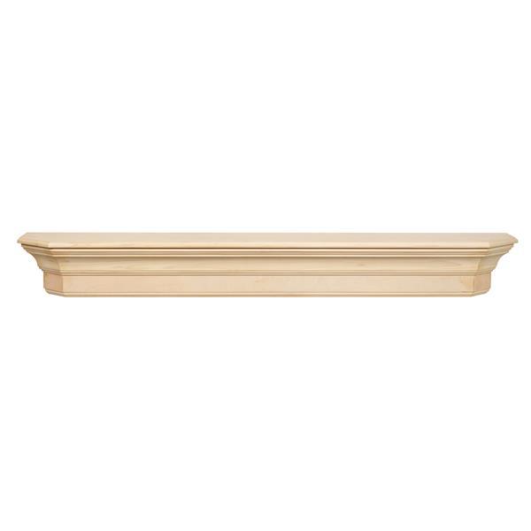 Pearl Mantels Lindon Mantel Shelf - 72-in - Wood - Natural