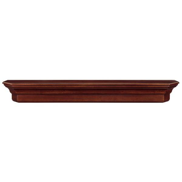 Pearl Mantels Lindon Mantel Shelf - 60-in - Wood - Brown
