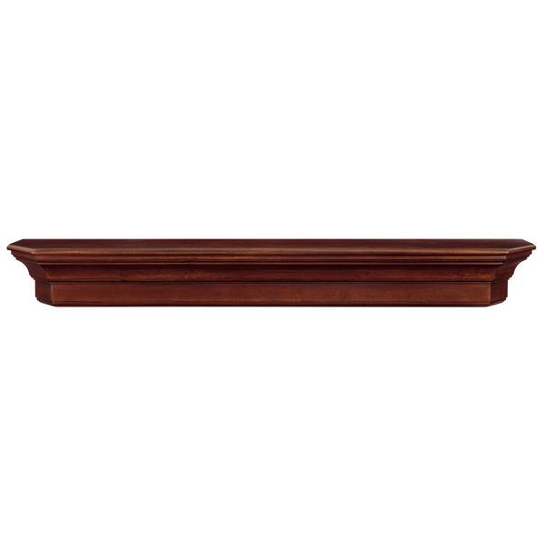 Pearl Mantels Lindon Mantel Shelf - 48-in - Wood - Brown