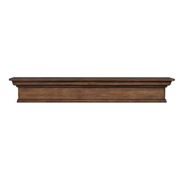 Pearl Mantels Savannah Mantel Shelf - 72-in - Wood - Brown