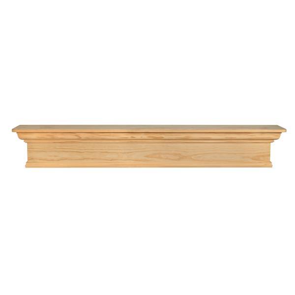 Pearl Mantels Savannah Mantel Shelf - 48-in - Wood - Natural