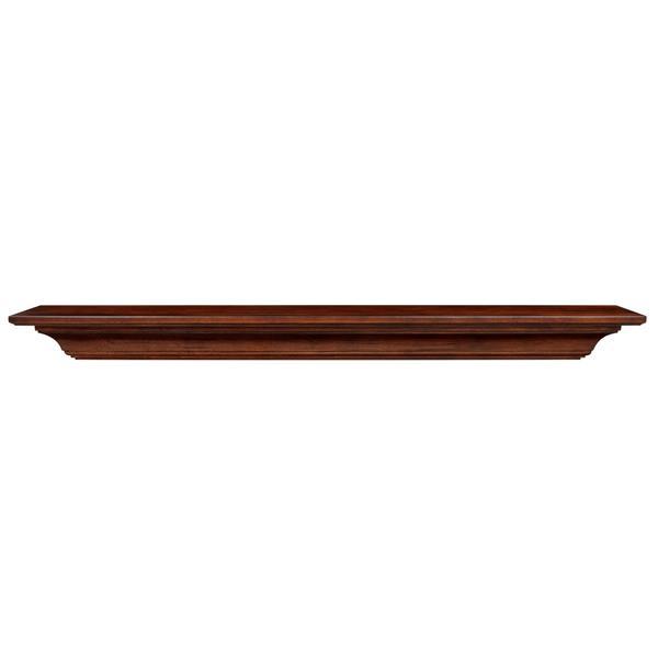 Pearl Mantels Homestead Mantel Shelf - 72-in - Wood - Brown