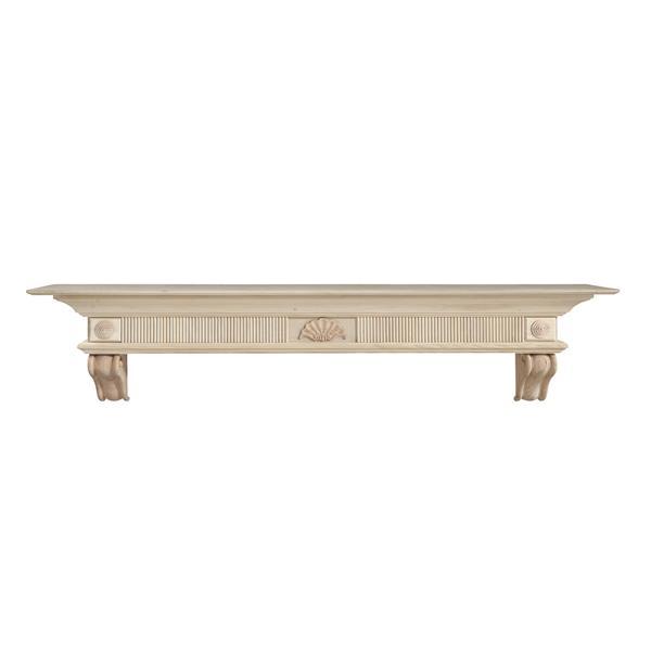 Pearl Mantels Devonshire Mantel Shelf - 60-in - Wood - Natural