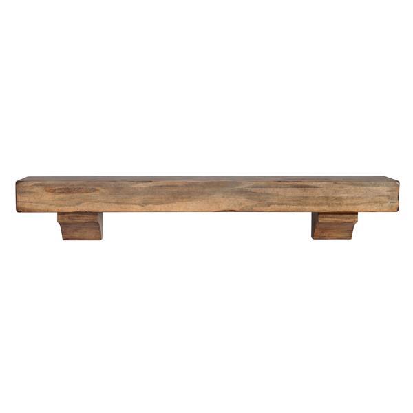 Pearl Mantels Shenandoah Mantel Shelf - 72-in - Wood - Brown