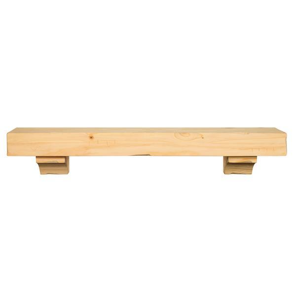 Pearl Mantels Shenandoah Mantel Shelf - 72-in - Wood - Natural