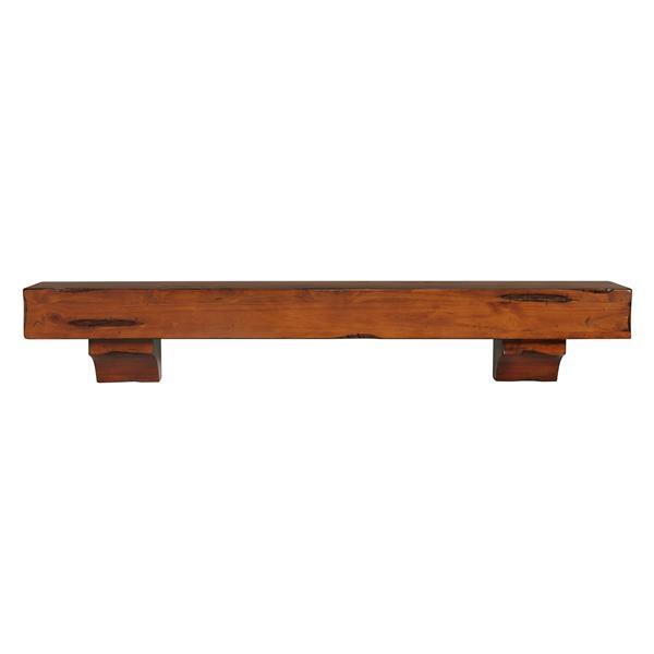 Pearl Mantels Shenandoah Mantel Shelf - 60-in - Wood - Rustic Brown