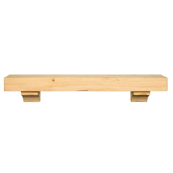 Pearl Mantels Shenandoah Mantel Shelf - 60-in - Wood - Natural