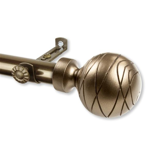 Rod Desyne Arman Curtain Rod - 28-48-in - 13/16-in - Brass