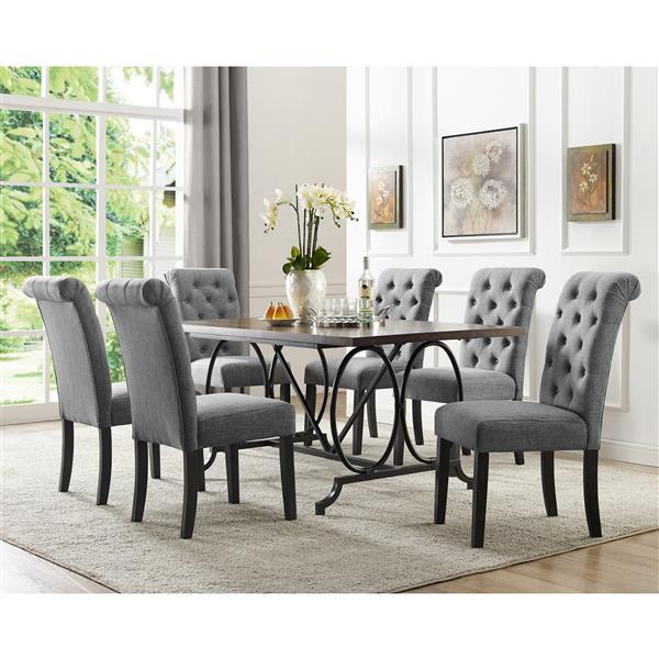 Brassex Soho Dining Set - Polyester - Gray - 7 Pieces