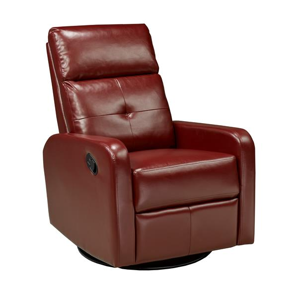 """Brassex Soho Recliner - 21"""" x 19"""" - Faux Leather - Red"""