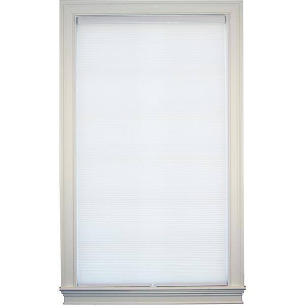 "allen + roth Room Darkening Double Cell Shade- 61.5"" x 72"" - White"