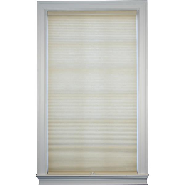 "allen + roth Room Darkening Double Cell Shade - 41"" x 72"" - Straw-White"