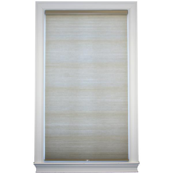 "allen + roth Room Darkening Double Cell Shade - 42"" x 72"" - Sand-White"