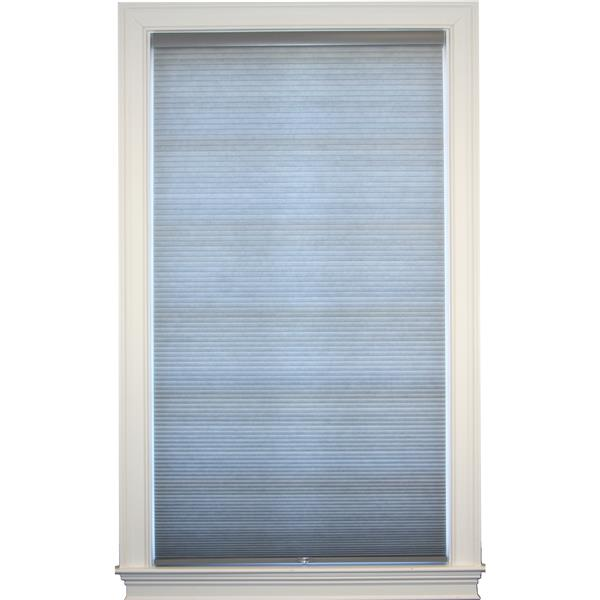 "allen + roth Room Darkening Double Cell Shade 63""x 72""- Anchor Gray-White"