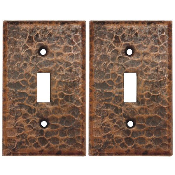 Premier Copper Products Single Wall Plate - 2 PK - Copper